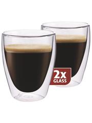 Maxxo coffee dvoustěnné termo sklenice 235 ml 2ks