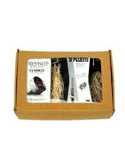 Dárkový set moka konvice Pezzetti Lux 3 antracit plus mletá káva