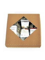 Dárkový set moka konvice Pezzetti Ital 6 černá + 2x mletá káva