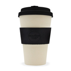 Ecoffee cup Black Nature bambusový hrnek, 400 ml