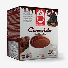 Tiziano Bonini Chocolate kapsle pro kávovary Dolce Gusto 16 ks