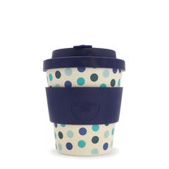 Ecoffee cup Blue Polka bambusový hrnek, 240 ml