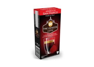 Tre Venezie ARABICA DI SAN MARCO kapsle pro kávovary Nespresso 10 ks