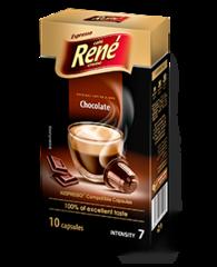 René Espresso káva příchuť Chocolade kapsle pro Nespresso 10 ks
